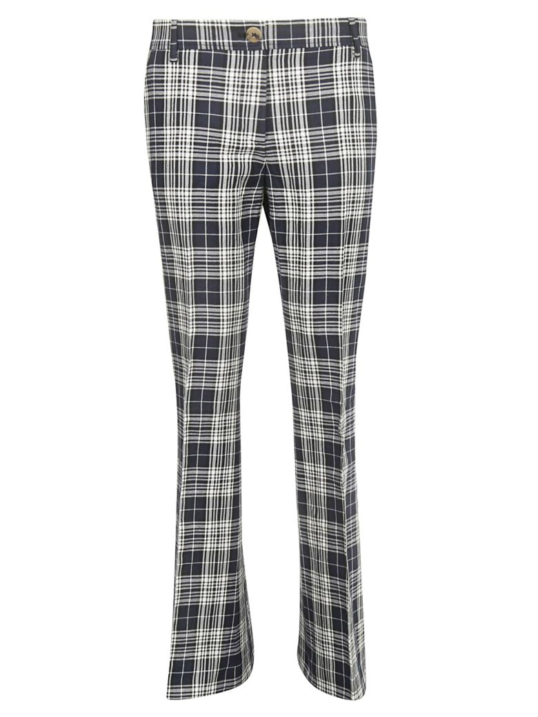 Tommy Hilfiger Checked Flared Trousers - Deep Well Multi