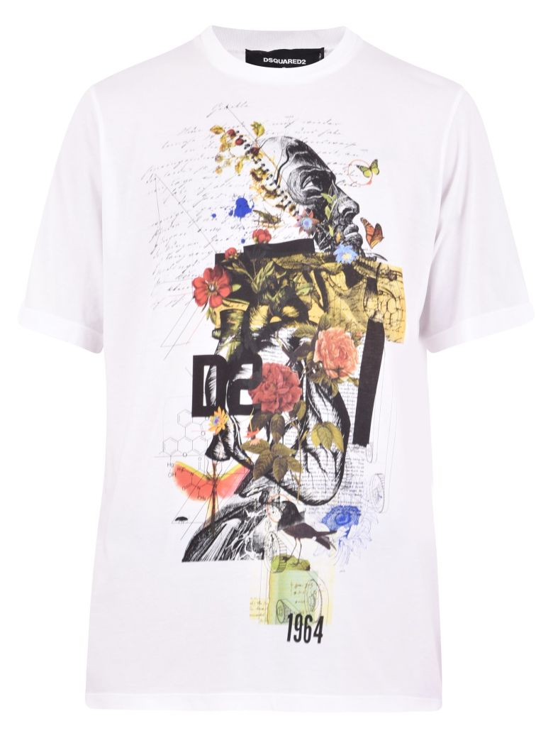 Dsquared2 Printed T-shirt - White