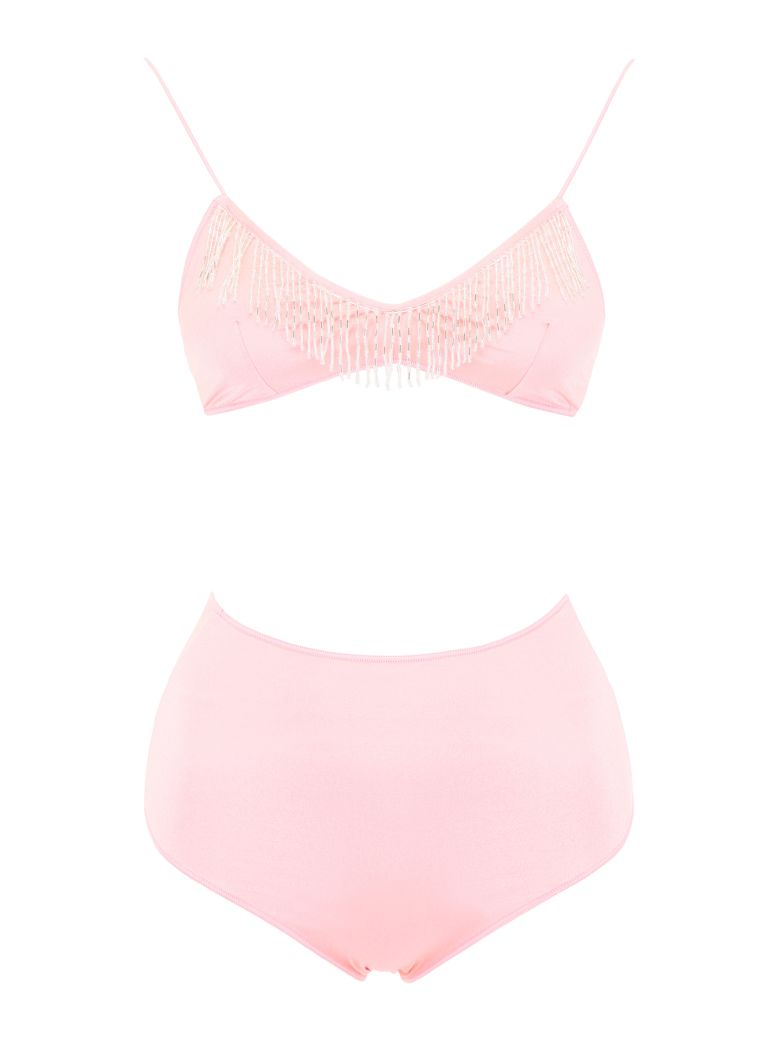 Oseree Bikini With Beads - PINK (Pink)