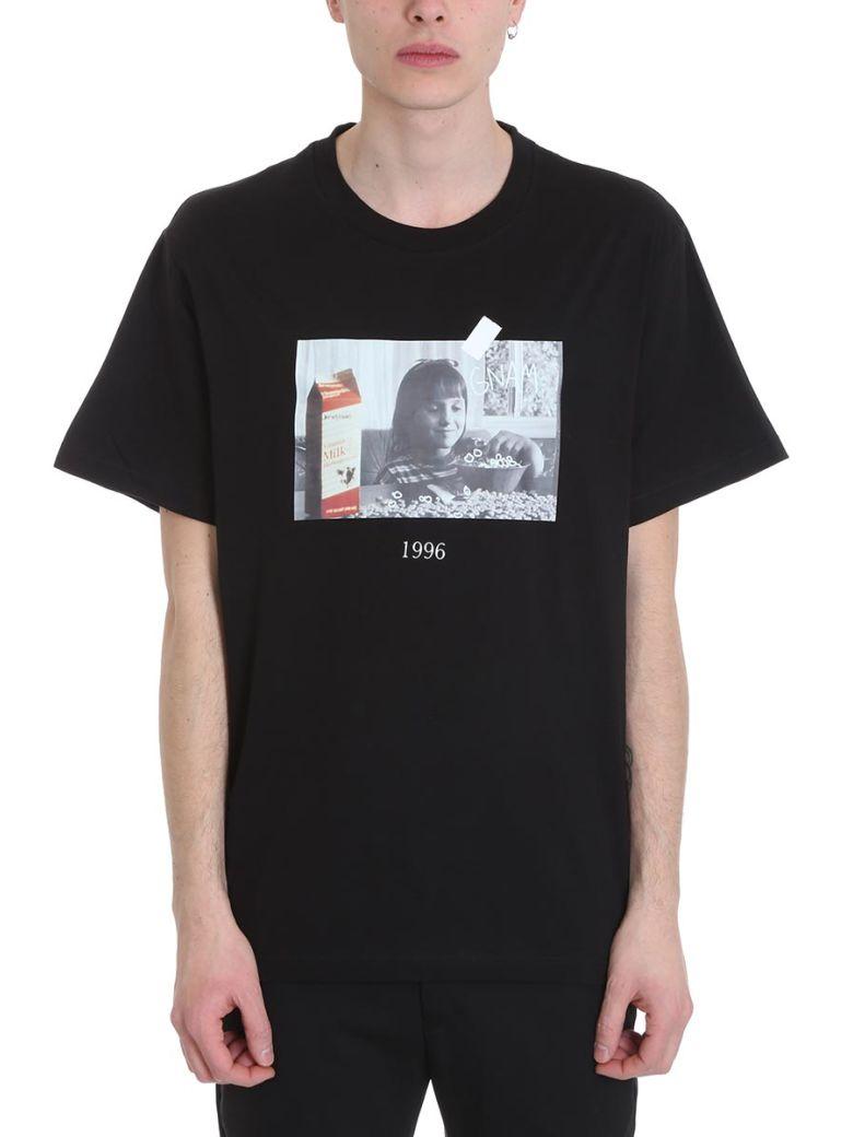 Throw Back Matilda Black Cotton T-shirt - Black