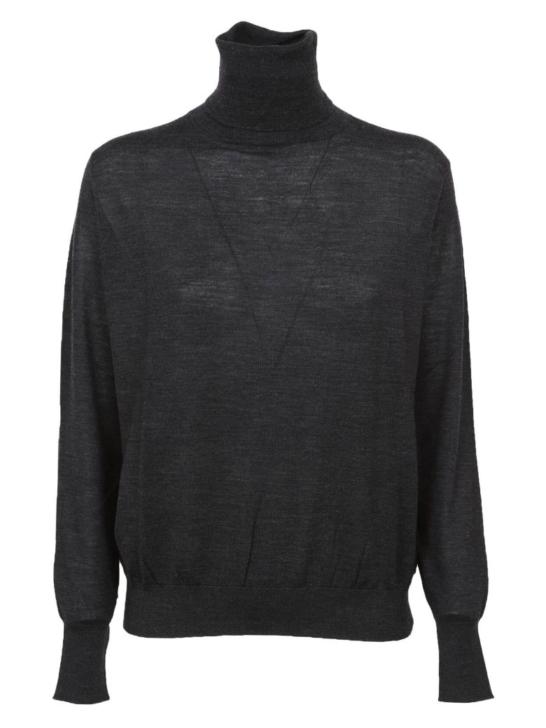 Zanone Roll Neck Sweater - Grey