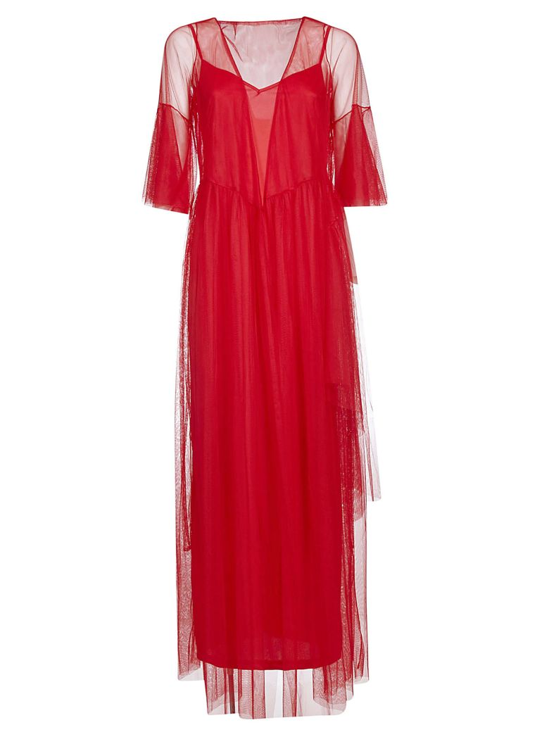 STAUD Stellar Dress - Red