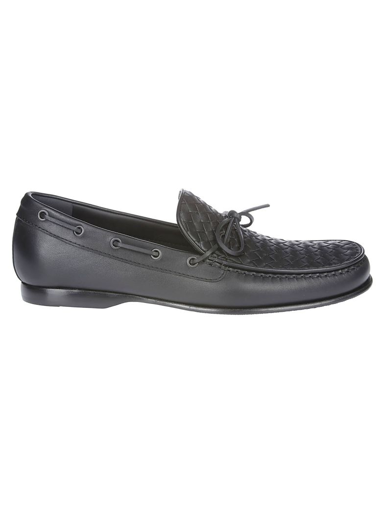Bottega Veneta Woven Panel Loafers - Black