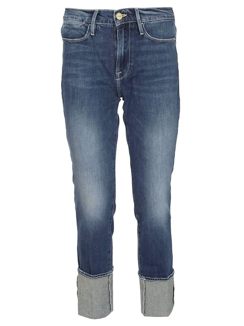 Frame Cropped Length Jeans - Medio