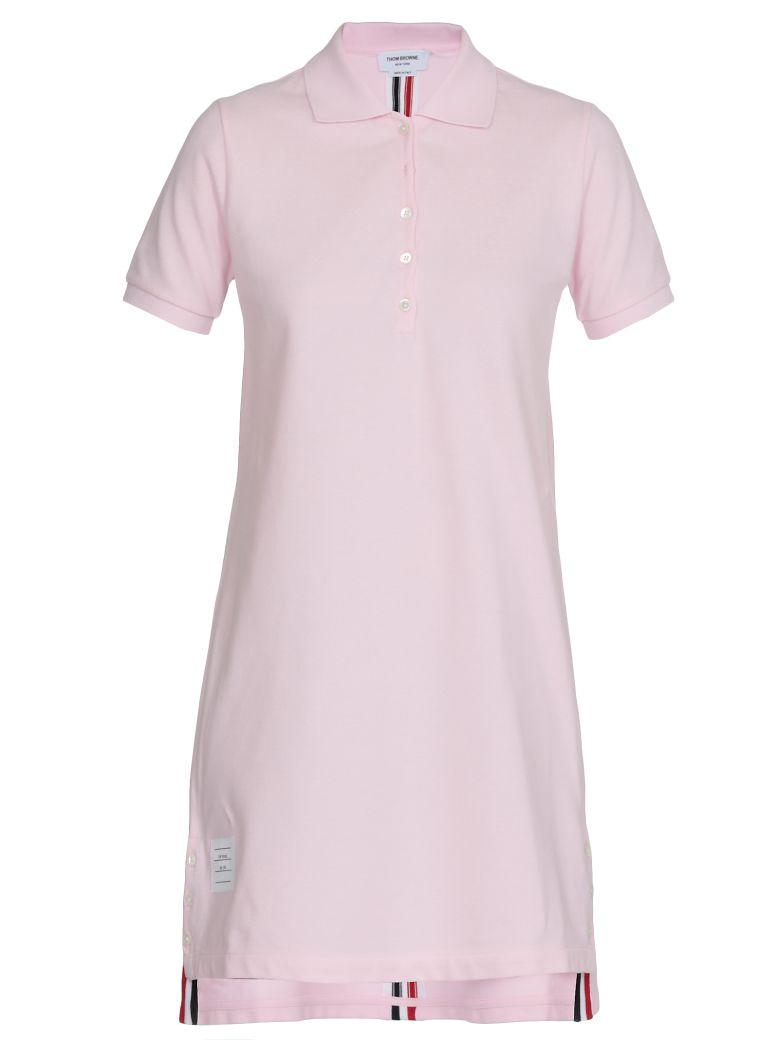 Thom Browne A Line Polo Dress - LT PINK