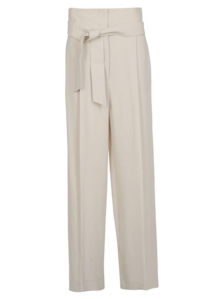 Weekend Max Mara Tie Waist Trousers - White
