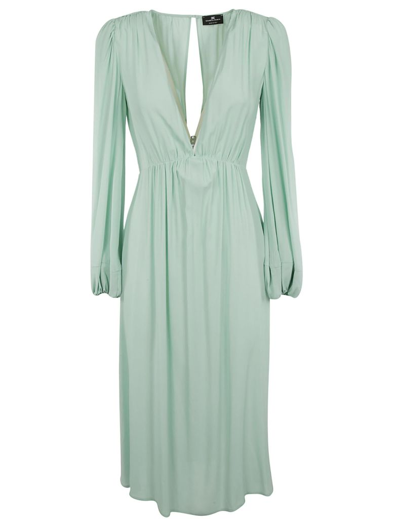 Elisabetta Franchi Celyn B. Elisabetta Franchi For Celyn B. V-neck Midi Dress - Green