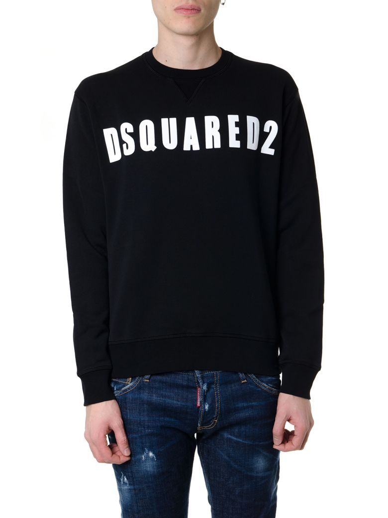 Dsquared2 Black Cotton Sweatshirt With Dsquared2 Logo - Black
