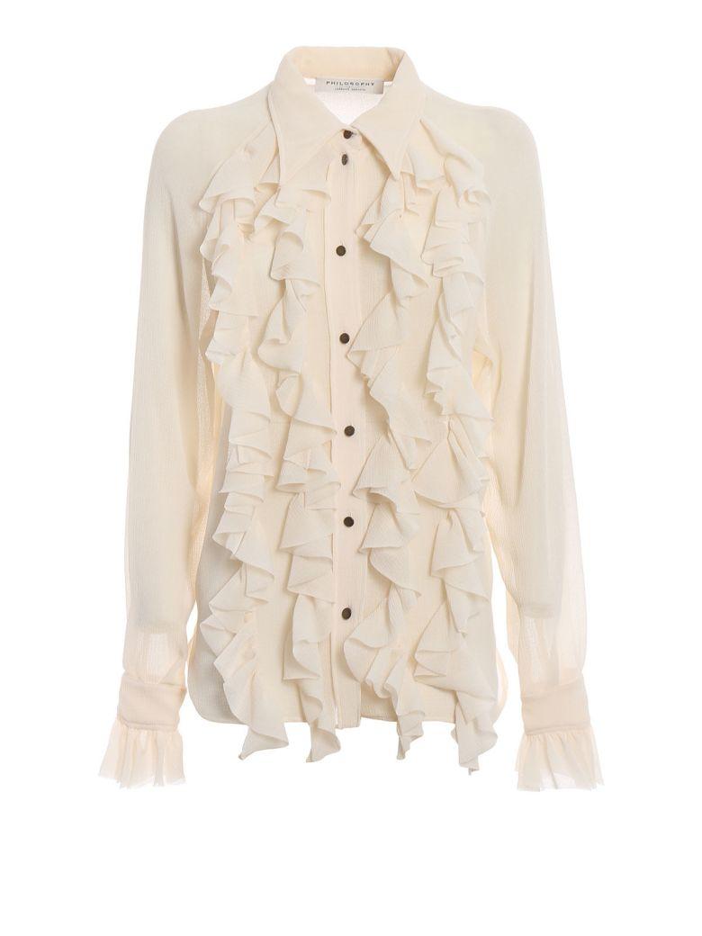 Philosophy di Lorenzo Serafini Philosophy Ruffled Shirt - Bianco