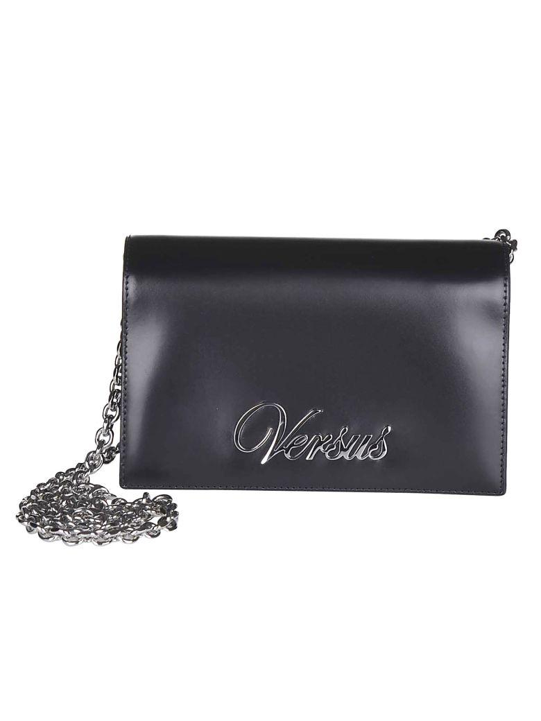 Versus Versace Logo Plaque Shoulder Bag - Black