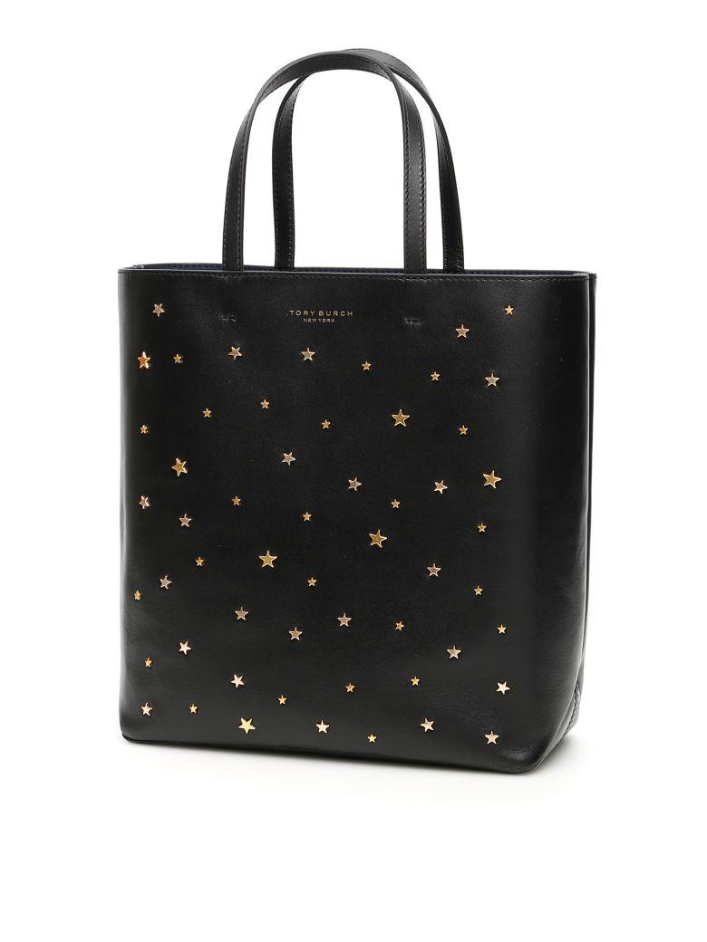 Tory Burch Small Star Stud Shopper - BLACK (Black)