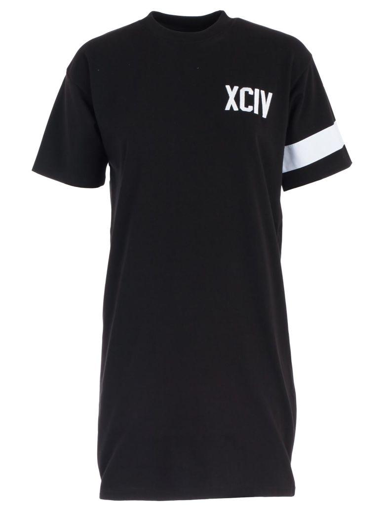 GCDS Logo T-shirt Dress - Black