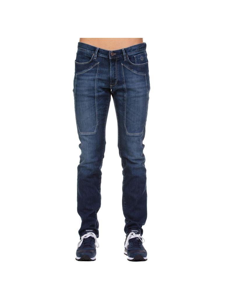 Jeckerson Jeckerson Straight Leg Jeans - BLUE