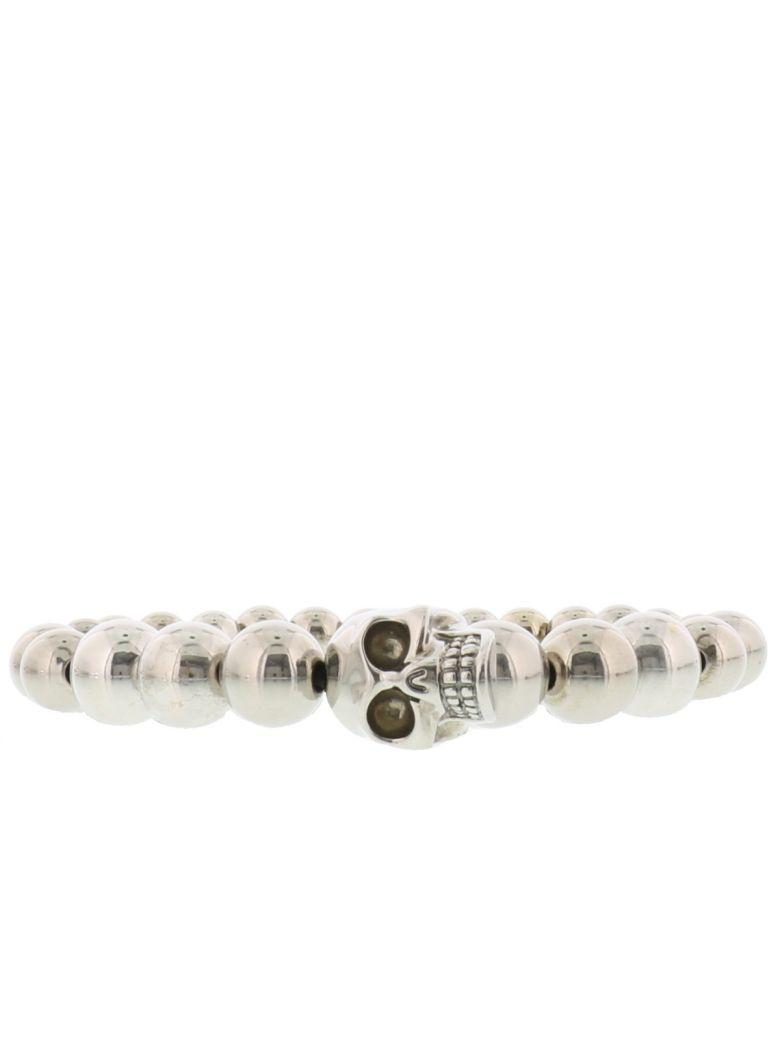 Alexander McQueen Skull Ball Bracelet - Silver