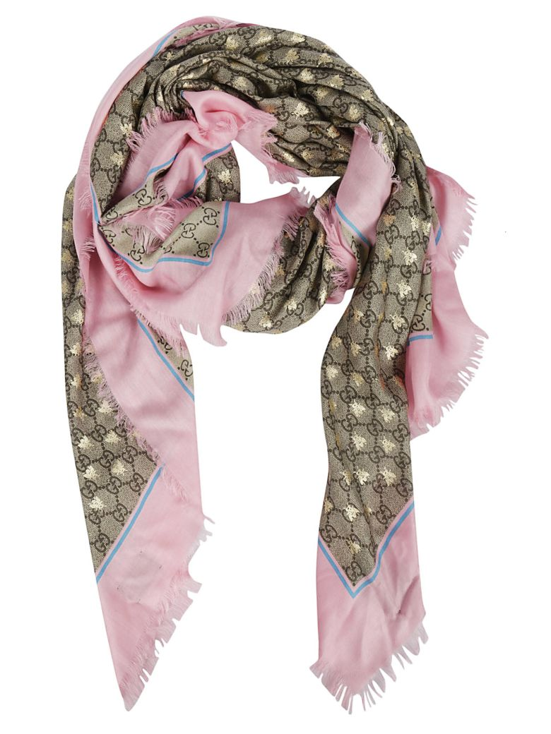 Gucci Frayed Scarf - Roseate Sky Blue