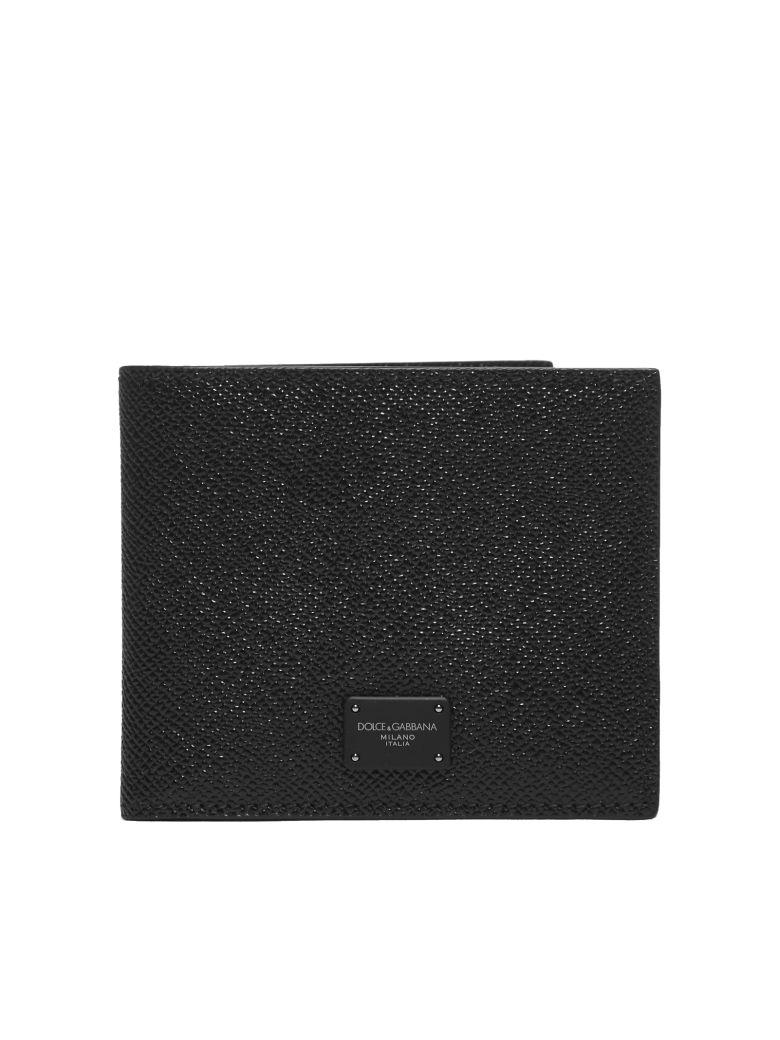 Dolce & Gabbana Logo Plaque Wallet - Nero