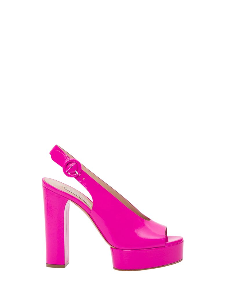 Casadei Singback Sandal With Open Toe - Fuxia