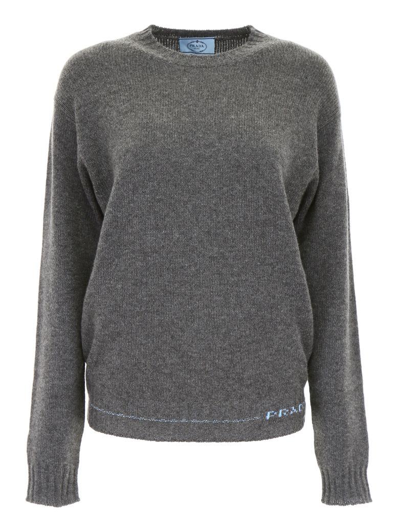 Prada Linea Rossa Cashmere Pullover - ARDESIA (Grey)