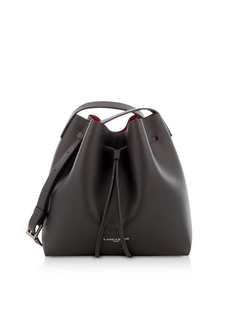 Lancaster Paris Pur & Element Saffiano Small Two Tone Bucket Bag - Black