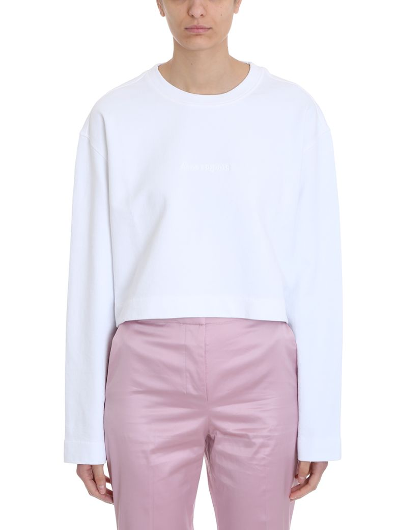 Acne Studios White Cotton Odice Emboss Sweater - white