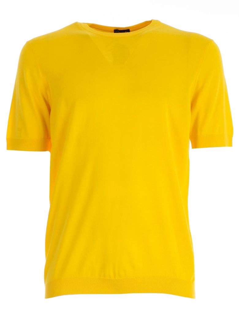 Drumohr Plain T-shirt - Yellow