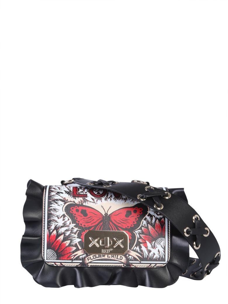 RED Valentino Rock Ruffles Shoulder Bag - NERO