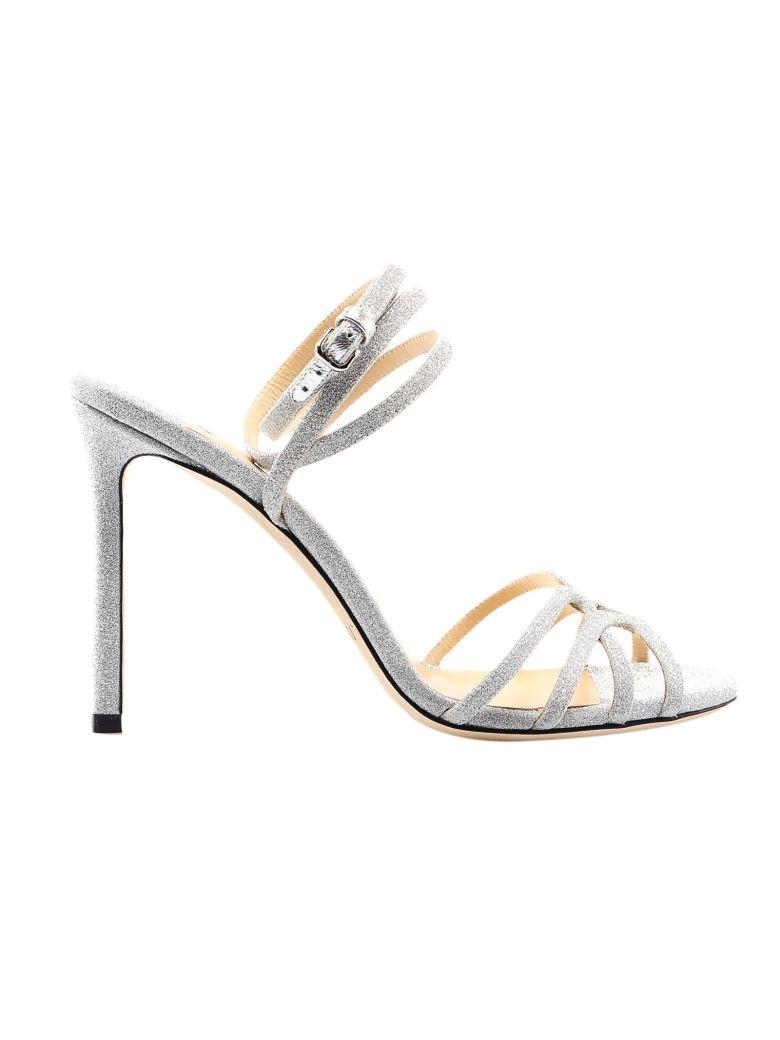 Jimmy Choo Fine Glitter Sandal - Silver