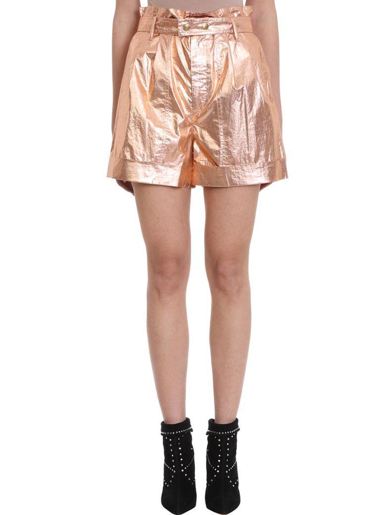 Isabel Marant Tweni Bronze Metallic Effect Cotton Shorts - rose-pink