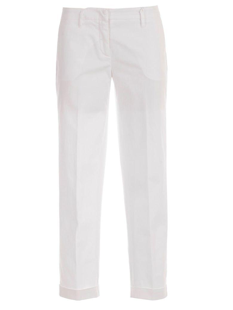 Aspesi Mid-waist Trousers - Bianco Ott