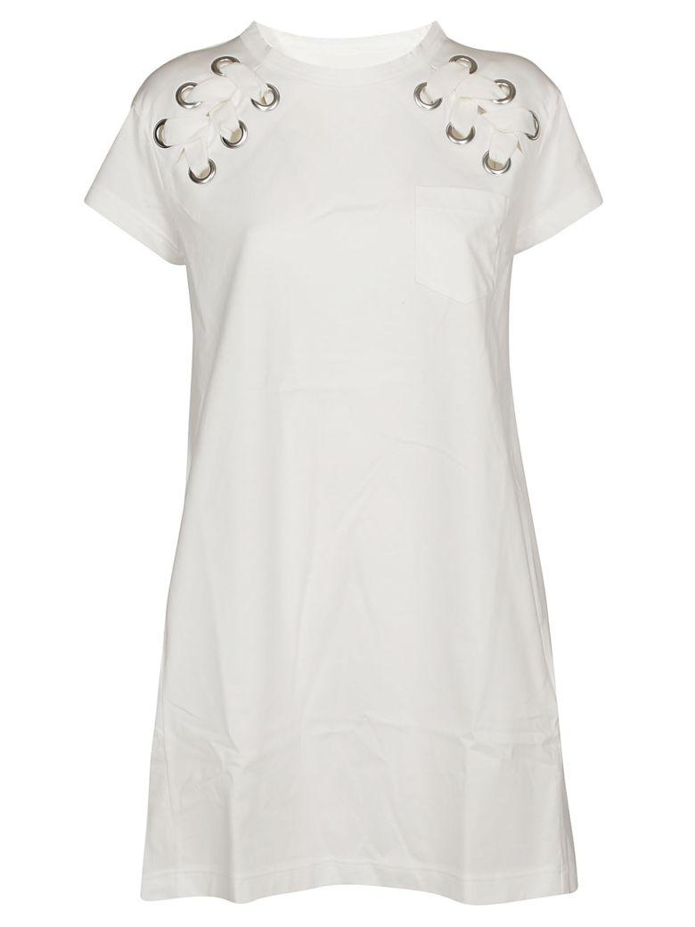 Sacai Stitched Detail Dress - White