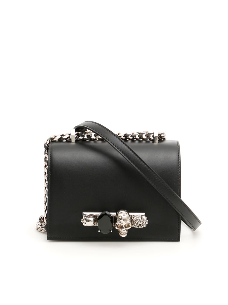 Alexander McQueen Small Jewelled Satchel - BLACK (Black)