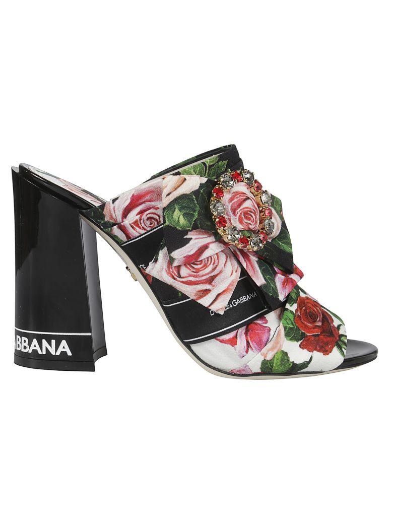 Dolce & Gabbana Floral Mules - Rose