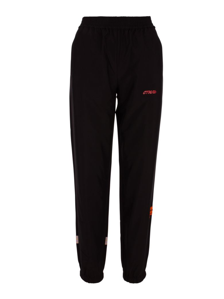 HERON PRESTON Trousers - Black/pink
