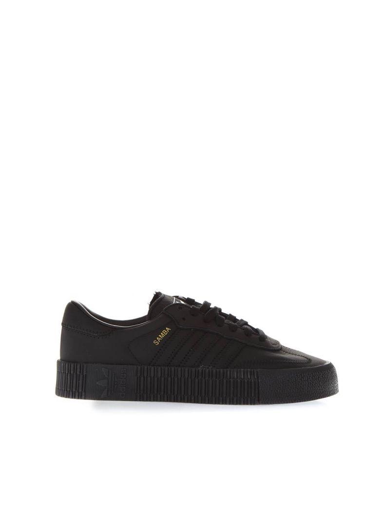 Adidas Originals Samba Black Leather Sneakers - Black