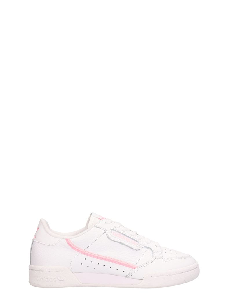Adidas Continental 80 White Leather Sneakers - white