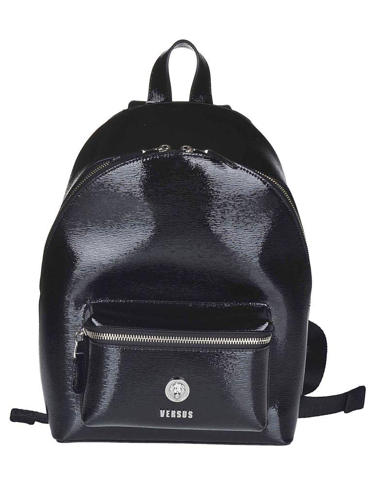 Versus Versace Logo Plaque Backpack - Black