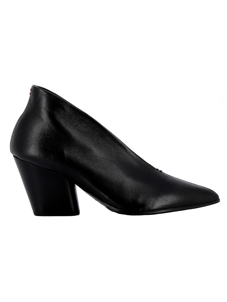 Halmanera Black Leather Pumps - BLACK