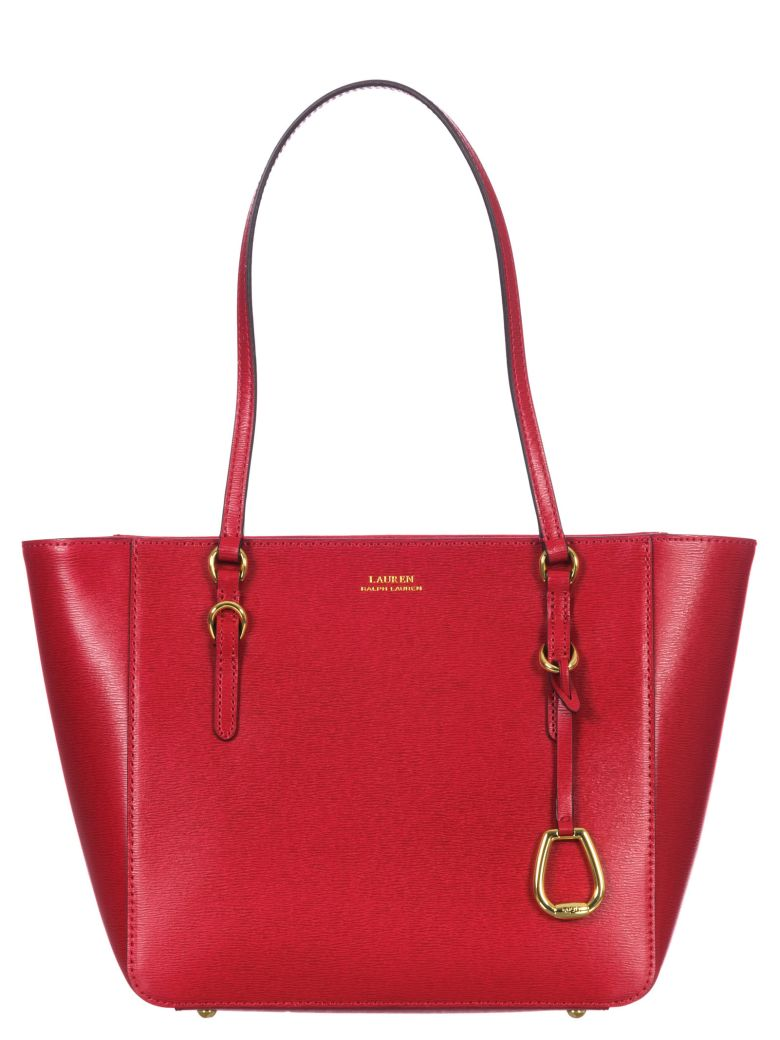 Ralph Lauren Leather Tote Bag - Red