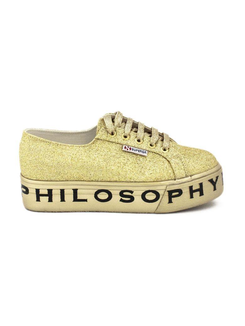 Philosophy di Lorenzo Serafini Superga Sneaker By Philosophy In Gold-tone Glitter. - Oro