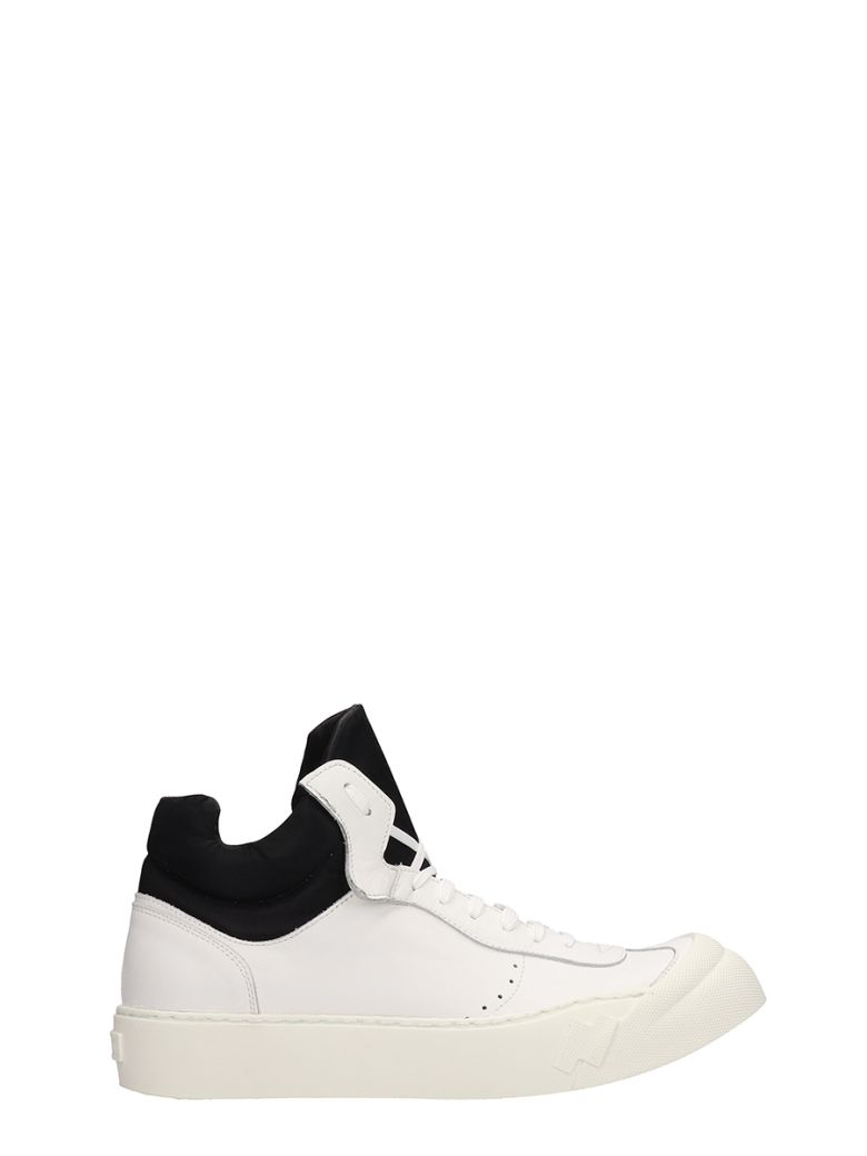 Cinzia Araia White Leather Mid Sneakers - white