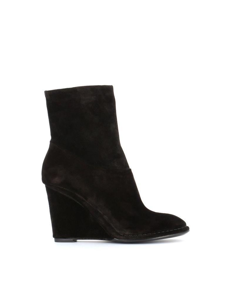"Roberto del Carlo Wedge Boots ""10647"" - Black"