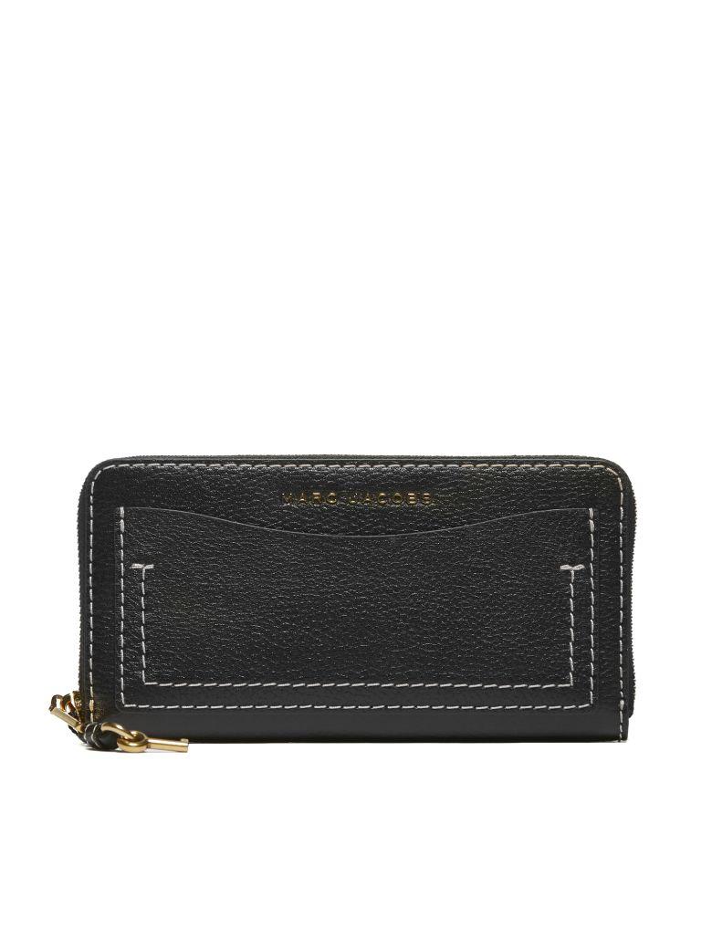 Marc Jacobs Grind Standard Zip Around Wallet - Nero bordeaux