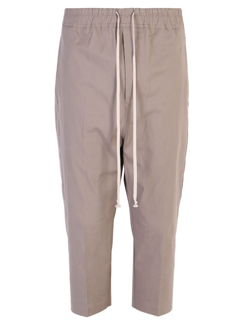 Rick Owens Drop Crotch Trousers - Beige