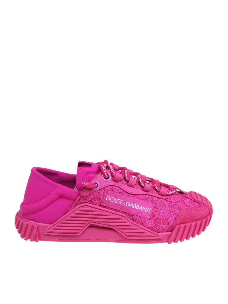 Dolce & Gabbana Slip On Ns1 In A Mix Of Materials - Fucsia
