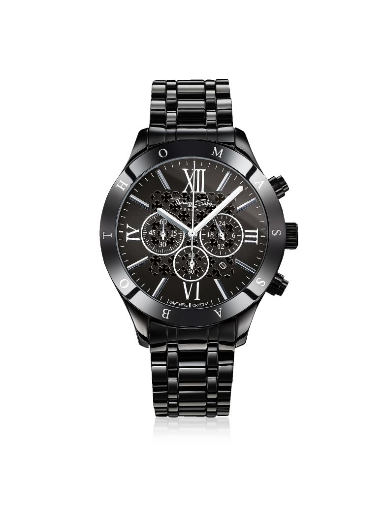 Thomas Sabo Rebel Ceramic Men's Chronograph Watch - Black