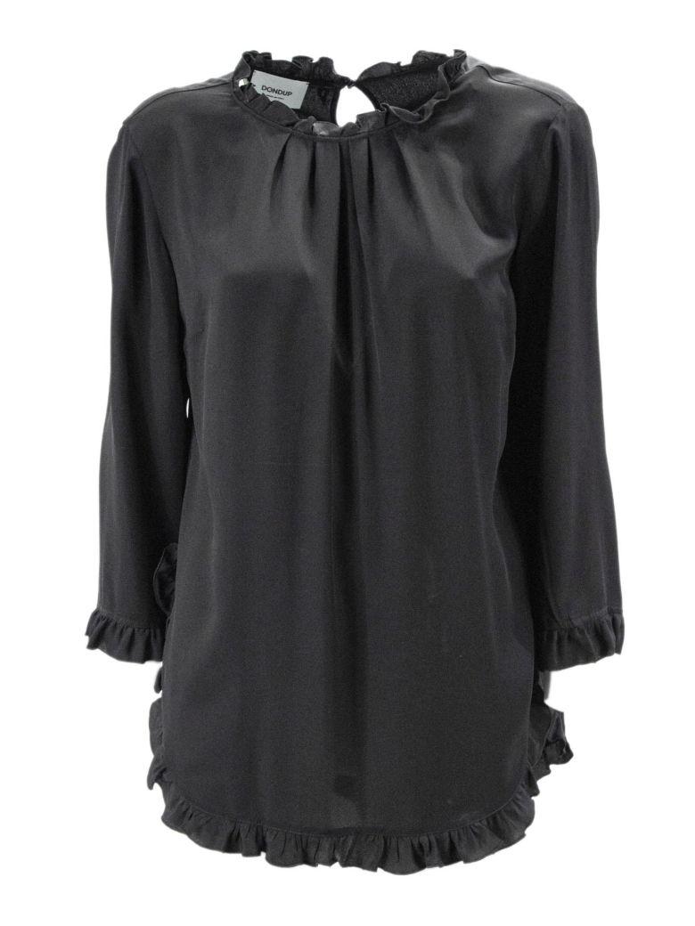 Dondup Black Blend Silk Top. - Nero