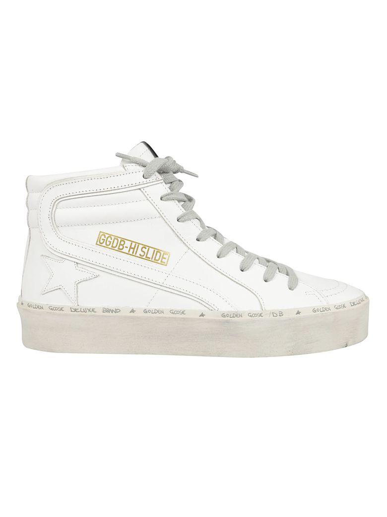Golden Goose Slide Hi-top Sneakers - White Star