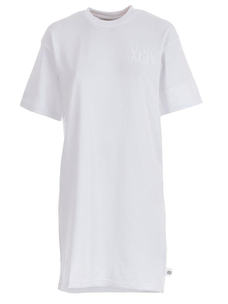 GCDS Logo Print T-shirt Dress - White