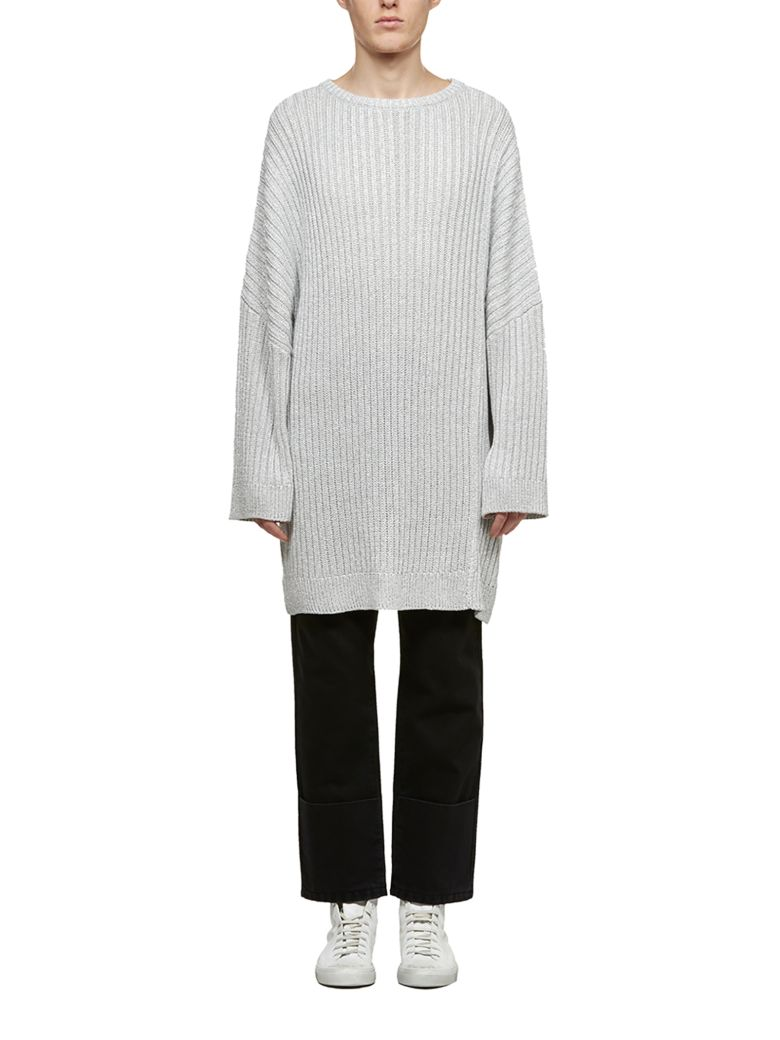 Raf Simons Ribbed Knit Jumper - Argento