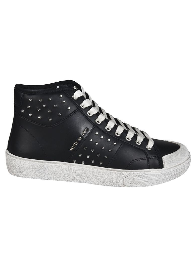 M.O.A. master of arts Master Of Arts Studded Sneakers - BLACK